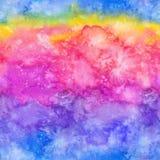 Η ακουαρέλα Watercolor χρωμάτισε το άνευ ραφής πρότυπο Στοκ εικόνα με δικαίωμα ελεύθερης χρήσης