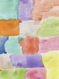 Αφηρημένο χρωματισμένο χέρι watercolor Στοκ Εικόνα