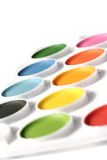 Watercolor. Paint tray Stock Image