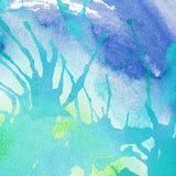 Αφηρημένος ζωηρόχρωμος χρωματισμένος παφλασμός watercolor και Στοκ φωτογραφία με δικαίωμα ελεύθερης χρήσης