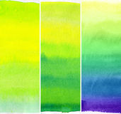Watercolor abstract background. Set of abstract watercolor hand painted backgrounds Stock Photos