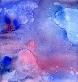 Watercolor abstract background Stock Photography