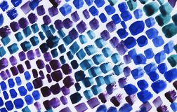 Watercolor abstract background with blue paint strokes. stock photography