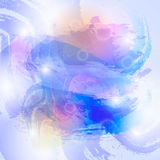 Watercolor abstract background. In blue and violet colours Stock Photography