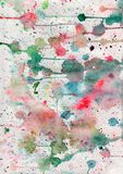 Watercolor abstract background. With bright multycolor spots Stock Photo