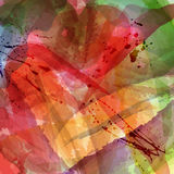 Watercolor abstract background. Abstract colorful watercolor background with ink blots Royalty Free Stock Image
