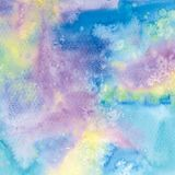 Watercolor abstract background with drops and splashes. Hand drawn illustration Stock Illustration