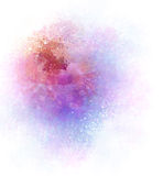 Watercolor Abstract Background With Flowers Stock Photos