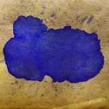 Watercolor abstract background paint blue, brown Royalty Free Stock Images