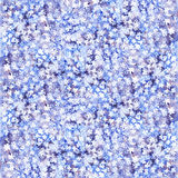 Watercolor abstract background. Watercolor painting. Blue-lilac background with small flowers stock illustration