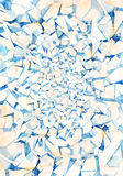 Watercolor abstract background. Watercolor painting. Abstract geometric pattern of blue cracks of ice Stock Image