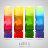 Watercolor abstract background. Seasons Royalty Free Stock Photos
