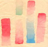 Watercolor abstract background strips Stock Images