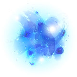 Watercolor abstract background. Abstract watercolor background, vector art illustration in blue tones Royalty Free Stock Photo