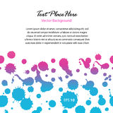 Watercolor abstract banner. Contrast glossy dotted border with space Royalty Free Stock Photography