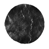 Watercolor abstract black circle isolated on white royalty free illustration
