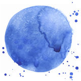 Watercolor abstract blue stain made in vector Stock Photos