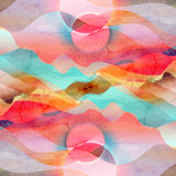 Watercolor abstract bright background Stock Photo