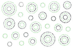 Watercolor abstract circles pattern. Watercolor mint and acryl silver abstract circles on white background vector illustration