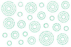 Watercolor abstract circles pattern. Stock Image