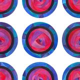 Watercolor abstract circles seamless pattern. Hand painted modern polka dots texture for surface design, textile, wrapping paper,. Watercolor abstract circles stock illustration