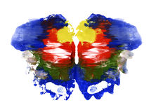 Watercolor abstract colorful butterfly stock illustration