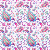 Watercolor abstract ethnic ornate elements seamless pattern. Stock Image