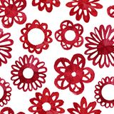Watercolor abstract flower seamless pattern. Stock Images