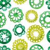Watercolor abstract flower seamless pattern. Royalty Free Stock Images
