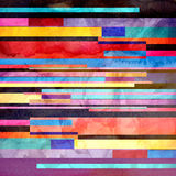 Watercolor abstract geometric background Royalty Free Stock Images
