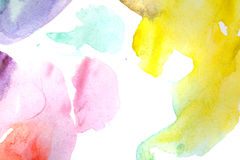 Watercolor abstract. Multicoloured. Royalty Free Stock Image
