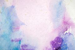 Free Watercolor Abstract Painting. Water Color Drawing. Watercolour Blots Texture Background. Stock Image - 139630661