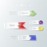Watercolor abstract paper design elements Royalty Free Stock Photography