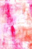 Watercolor abstract red painting image Royalty Free Stock Photo