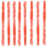 Watercolor abstract seamless pattern with colorful red lines stock illustration