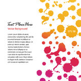 Watercolor abstract shiny banner. Sunny dotted border. Blots. Stains. Watercolor composition for scrapbook elements. Stock Photography