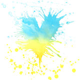 Watercolor abstract splash background. For decoration and design Stock Images