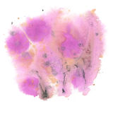 Watercolor abstract splash. watercolor purple drop isolated blot for your design art Stock Image