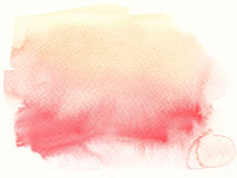Watercolor abstract textures background. The yellow red tones watercolor abstract details textures background Stock Photo