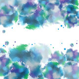 Watercolor abstract vector background. Stock Photo