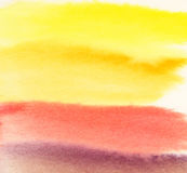 Watercolor abstract warm background. Fresh colorful background. Stock Photo
