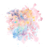 Watercolor abstraction background delicate soft , shimmering wat Royalty Free Stock Photos