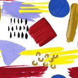 Watercolor abstraction pattern. Collage of stains. royalty free illustration