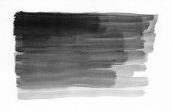 watercolor Abstraia os cursos pintados da tinta ajustados no papel da aquarela gota da tinta Fotografia de Stock Royalty Free