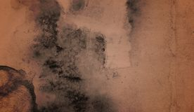 Abstract watercolor stain painting background . Vintage grunge old paper stock photo