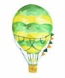 watercolor air balloon. Royalty Free Stock Photo