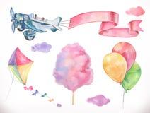Watercolor air. Vector icon set