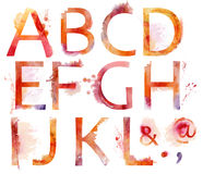 Watercolor alphabet Stock Photos