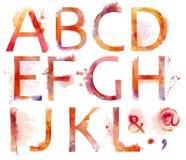 Watercolor alphabet Stock Photos