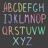 Watercolor alphabet Stock Photo
